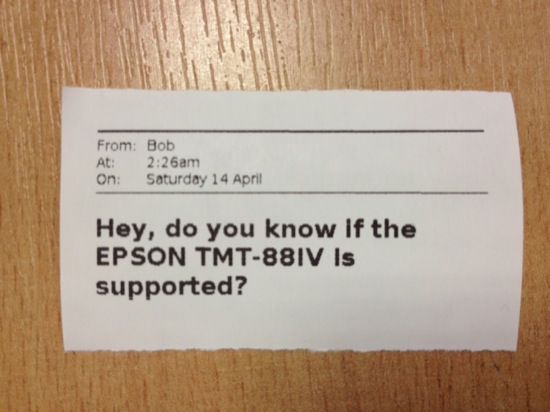 Hey, do you know if the EPSON TMT-88IV is supported?